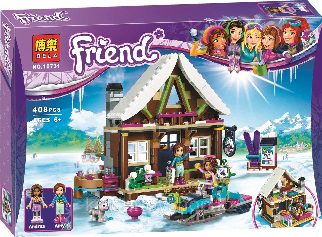 Конструктор Френдс Горнолыжный курорт: шале Bela 10731 (Аналог LEGO Friends 41323)