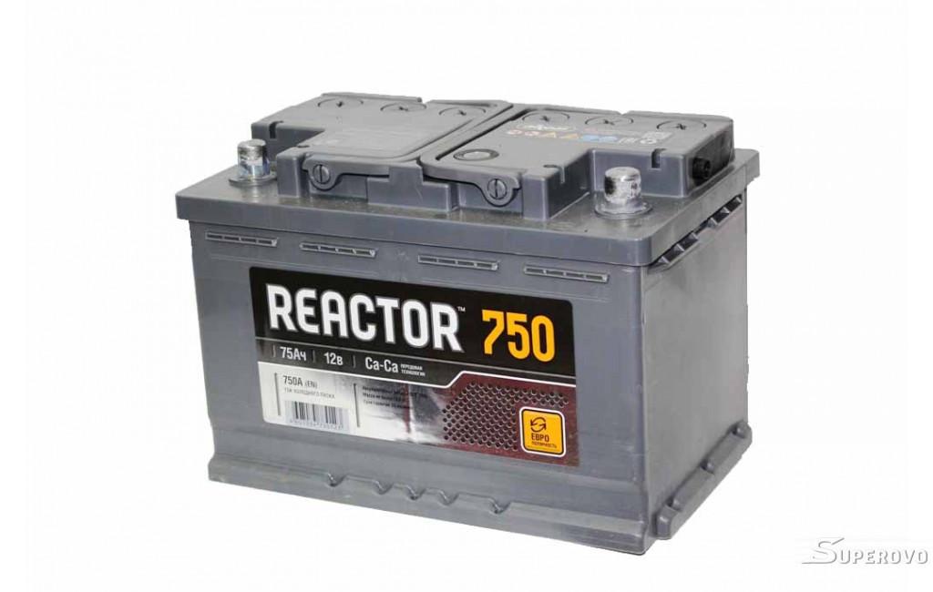 Аккумулятор автомобильный REACTOR 75E