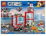 """Конструктор аналог лего 28049 Lele Cities """"Пожарное депо"""" аналог LEGO 60215, 537 деталей, фото 4"""