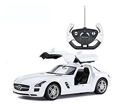 Rastar Радиоуправляемая машинка Mercedes SLS AMG (Белый), 1/14