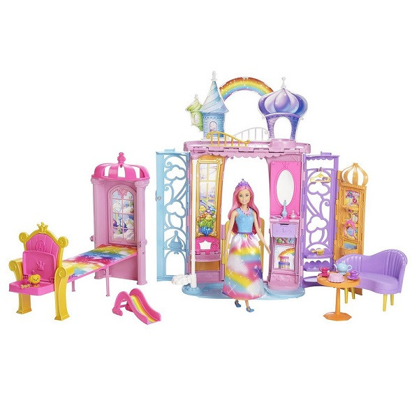 """Barbie """"Дримтопиа"""" Игровой набор - Переносной радужный дворец с куклой, Барби"""