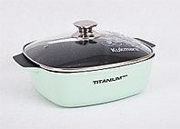 """Кастрюля-жаровня линии """"Titanium pro"""" (green) 4 литра"""
