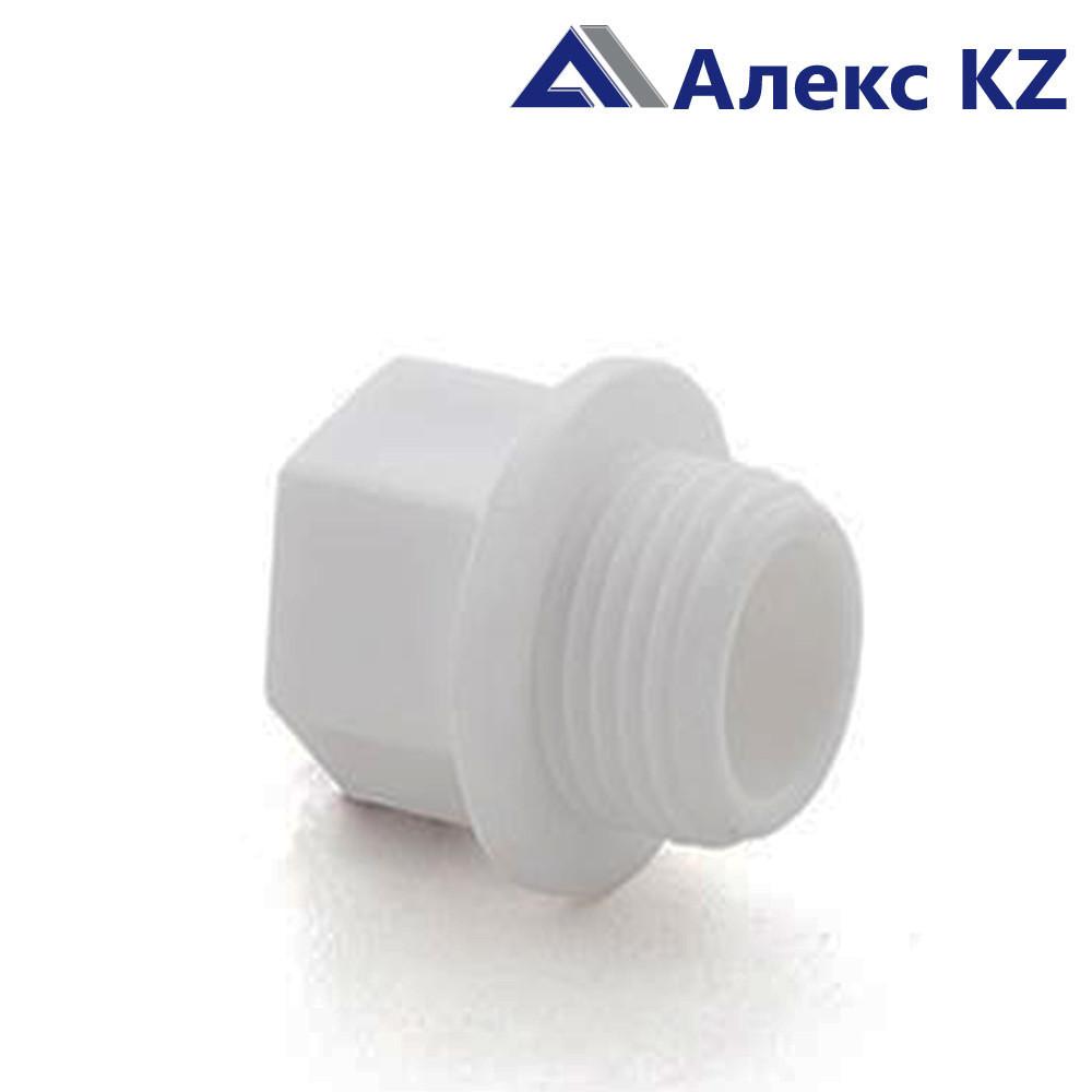 Заглушка резьбовая 1/2 PN 25 белый  РТП (120/720)