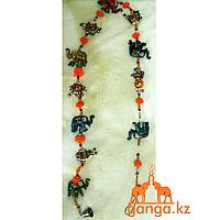 Сувенир слоники на веревке
