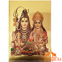 Плакат Шива и Парвати (размер 20 см*30 см)