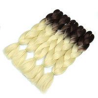 Канекалон коричневый - светло русый 65 см, косы для плетения