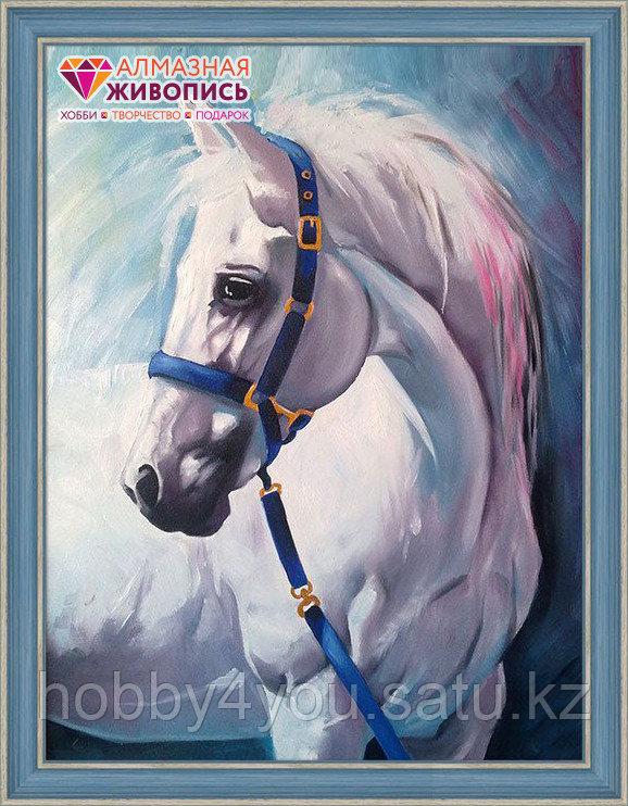 """Картина стразами """"Грезы белого коня"""", 30*40см"""