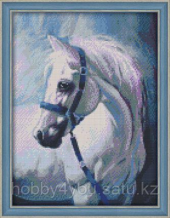 "Картина стразами на холсте ""Грезы белого коня"", 30*40см, фото 2"