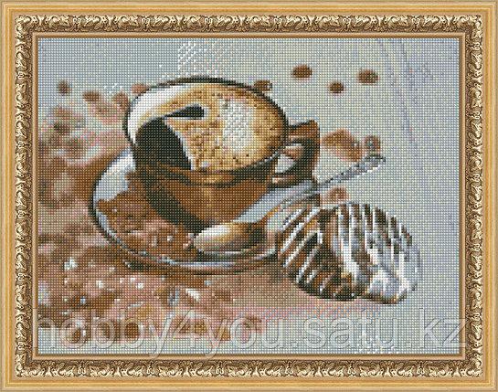 "Картина стразами на холсте ""Бодрящий кофе"", 30*40см, фото 2"