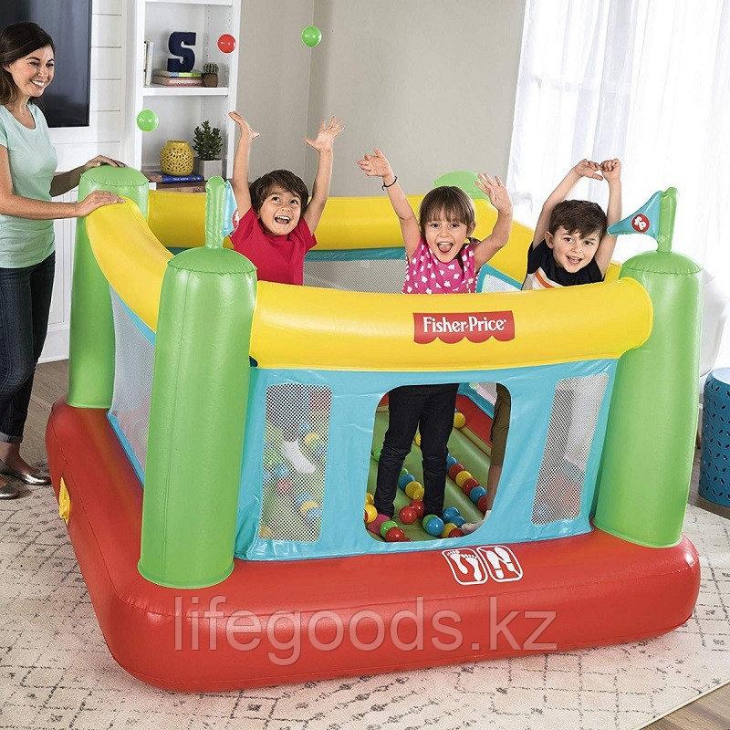 Детский надувной батут с насосом и шариками, Bestway 93532