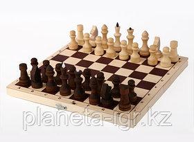 Шахматы обиходные парафинированные с доской 290х145х38