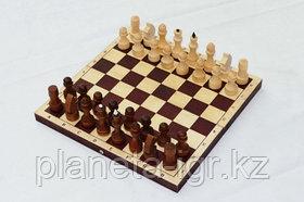 Шахматы обиходные парафинированные с темной доской