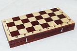 Шахматы обиходные лакированные с темной доской, фото 3