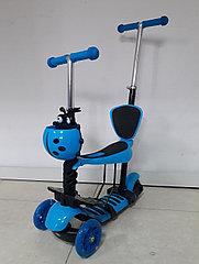 Самокат Scooter для детей с родительской ручкой и сидением