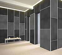 Акустические панели пожаробезопасные 1200х600х50 Black, фото 1