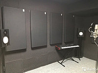 Акустические панели пожаробезопасные 1200х600х30 Black, фото 1