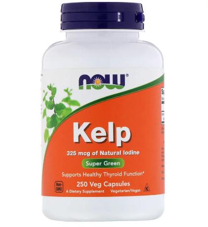 Now Foods, Келп, 250 растительных капсул