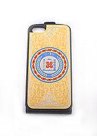 """Чехол для iPhone с накладкой """"Герб Чеченской Республики"""" Златоуст"""