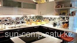 Оформление кухонь при помощи фартуков из стекла и зеркал