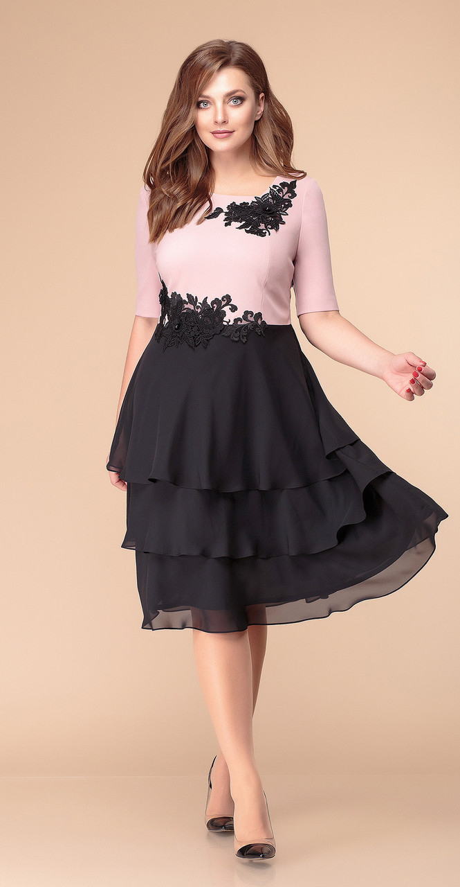 Платье Romanovich-1-1881, чёрный-пудра, 50