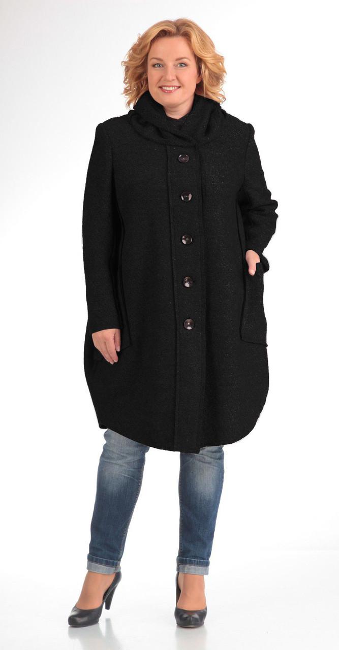 Пальто Pretty-485/3, черный, 56
