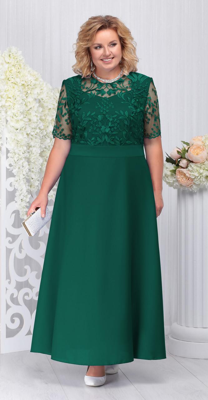 Платье Ninele-2195/2, изумруд, 56