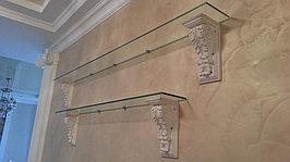 Изготовление стеклянных полок, которые будут прекрасно смотреться как в интерьерах домов, так и в любом бутике или салоне красоты!