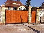 Откатные ворота из металлосайдинга, фото 4