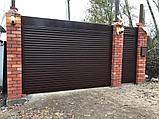 Откатные ворота из металлосайдинга, фото 6