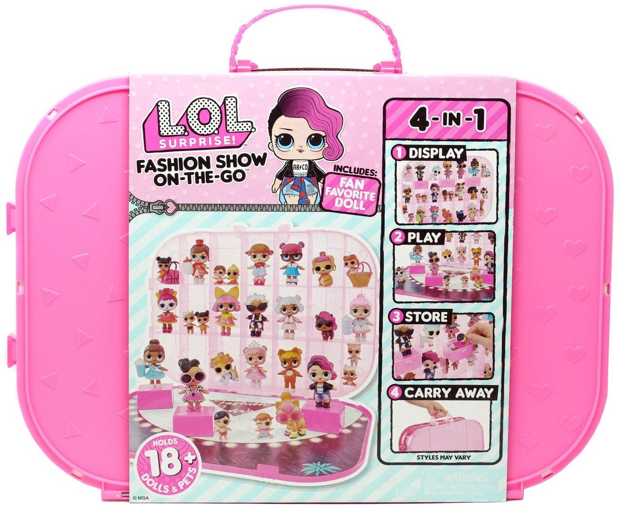 LOL Fashion Кеис Ярко-Розовый ЛОЛ Сюрприз 4-в-1