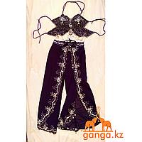 Танцевальный костюм - топ и штаны (фиолетовый)