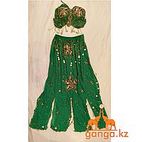 Танцевальный костюм - топ и юбка (зеленый)
