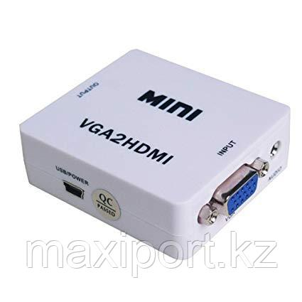 Конвертeр VGA на HDMI видео аудио конвертер VGA на HDMI 1080P, фото 2