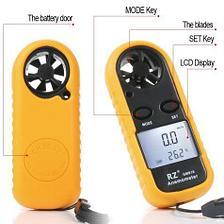 Анемометр цифровой GM-816. Прибор для измерения скорости движения газов, воздуха, ветра., фото 2