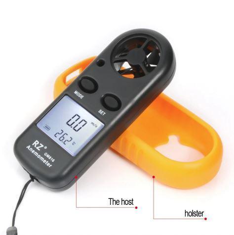 Анемометр цифровой GM-816. Прибор для измерения скорости движения газов, воздуха, ветра.