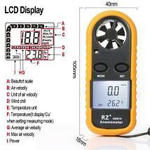 Анемометр цифровой GM-816. Прибор для измерения скорости движения газов, воздуха, ветра., фото 3