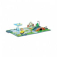 Набор «Город» почта с мостом (1 металлическая машинка в комплекте)
