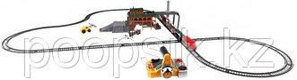 Игрушка ж/д Powertrains Набор Лесопогрузчик на р/у + 2 набора Power Construction