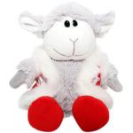 Мягкая игрушка Овечка в шубке красной, 26 см