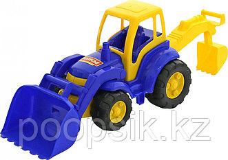 Детский трактор с лопатой и ковшом Чемпион