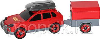 Автомобиль легковой с прицепом (в сеточке) в ассортименте