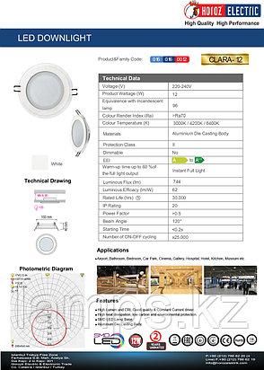 Настенно-потолочный светильник CLARA-12 12W Белый 6400K 220-240V Спот , фото 2
