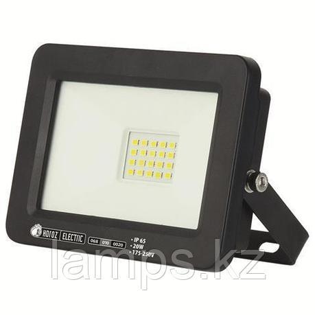 Прожектор герметичный светодиодный ASLAN-20 20W Черный 6400K 175-250V LED PROJ., фото 2