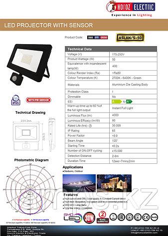 Прожектор герметичный светодиодный ASLAN-S50 50W Черный 6400K 175-250V L PRO, фото 2