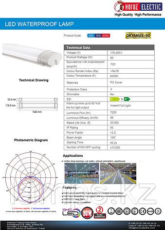 Светодиодная лампа OKYANUS-90 90W 6400K 170-265V LED WATERPROOF LMP, фото 2