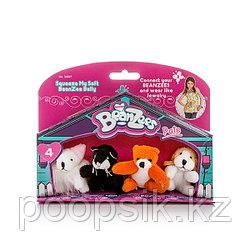 """Beanzees B34021 Мини плюш в наборе """"Мышка, Котик, Медведь, Песик"""""""
