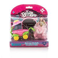 Beanzeez игровой набор плюшевый Львенок в вагончике