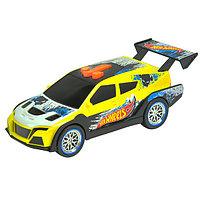 Машинка из серии Pedal masher на батарейках свет+звук электромеханическая, желтая