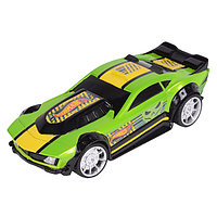 Машинка Drift Rod Freeway Flyer на батарейках со светом механическая, зеленая