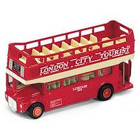 Игрушка модель автобуса 1:60-64 London Bus открытый